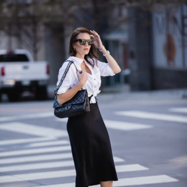 How to Wear a Black Slip Dress for Winter