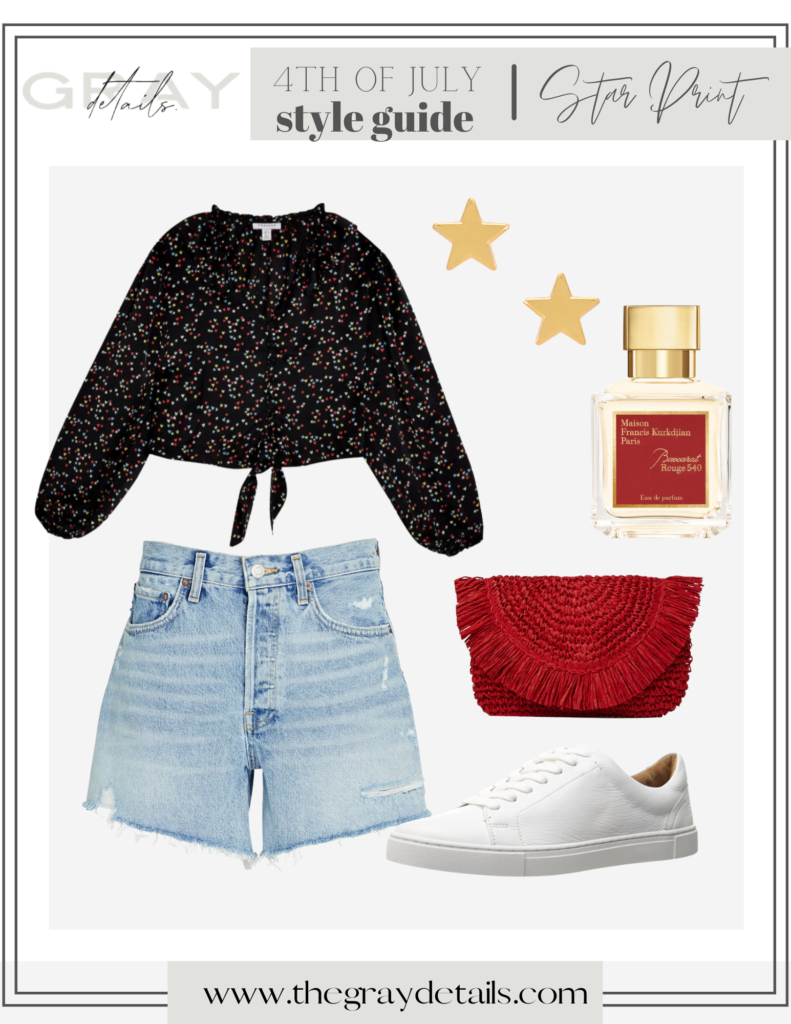 chic 4th of July outfits, agolde jean shorts