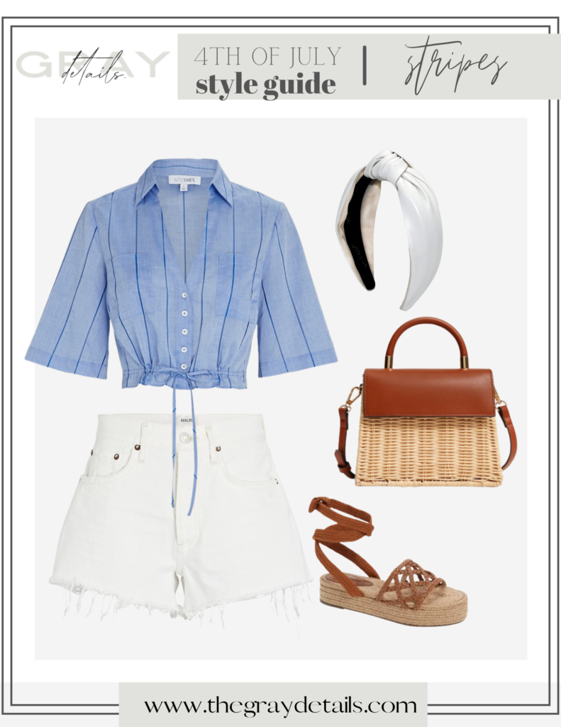 chic 4th of July outfits, white jean shorts, summer outfits