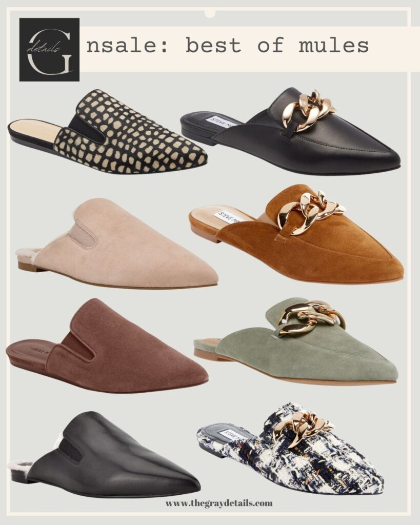 fall mules, mules shoes, slip on shoes