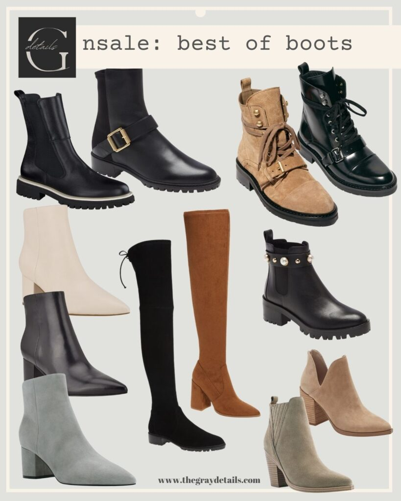fall and winter boots, nordstrom anniversary